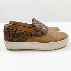 Volatile Tooled Faux Leather Design Slip On Shoe